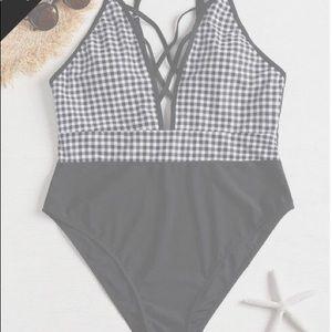 Other - Crisscross Plus Size Swimsuit
